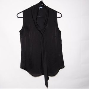 Semi-sheer sleeveless shirt